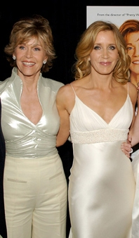 Jane Fonda and Felicity Huffman