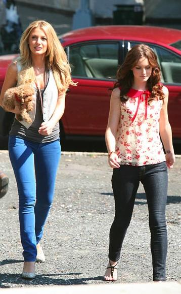 Here's a denim one worn by Gossip Girl's Blake Lively on set: