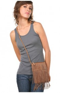 brown suede passport bag