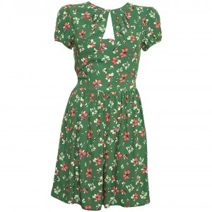 Flower print tea dress
