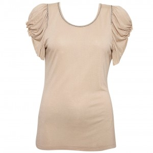 Kate Moss frill sleeve shirt