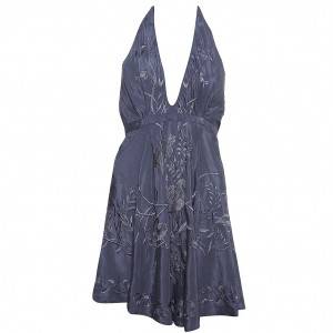 Kate Moss embroidered halter dress