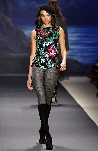 Tracy Reese Jewel Toned Fall Floral