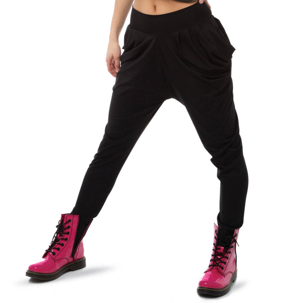 giammai draped pant with pink boots from just for kix