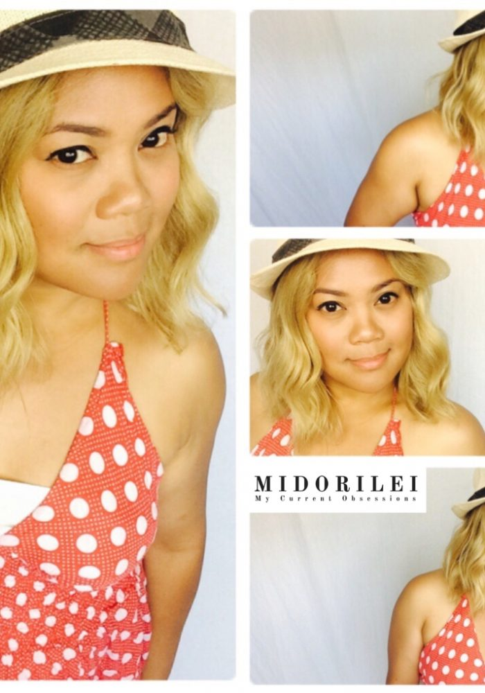summer outfits, fedora, polka dot dress, beachy waves