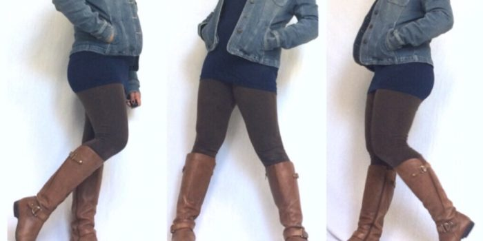 leggings outfit, cute fall outfits, knee high boots outfit