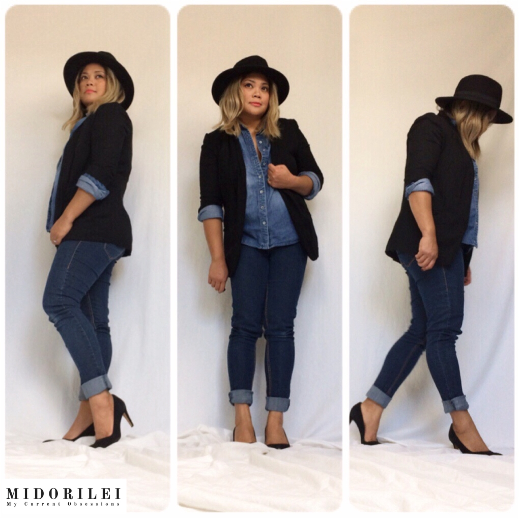City Chic with Denim on Denim: Mix it With Office Staples